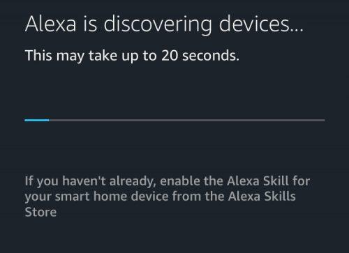 Alexa finder enheder i HomeSeer